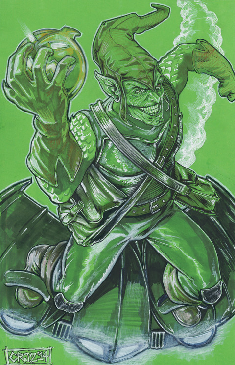 Green Goblin fan art by Craig Johnson II